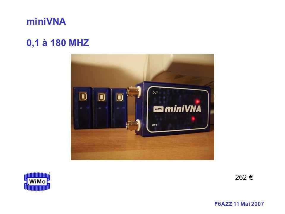 F6AZZ 11 Mai 2007 miniVNA 0,1 à 180 MHZ 262