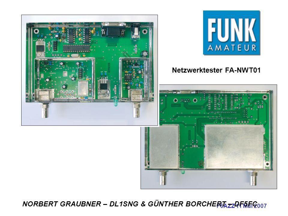 F6AZZ 11 Mai 2007 Netzwerktester FA-NWT01 NORBERT GRAUBNER – DL1SNG & GÜNTHER BORCHERT – DF5FC
