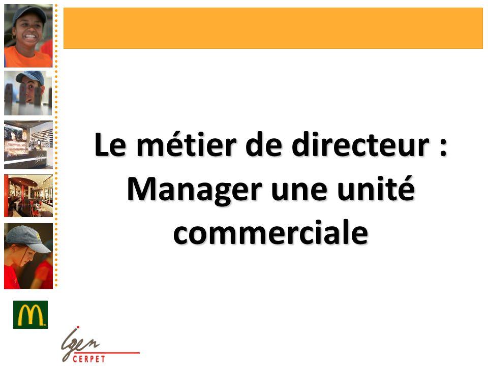 Le métier de directeur : Manager une unité commerciale