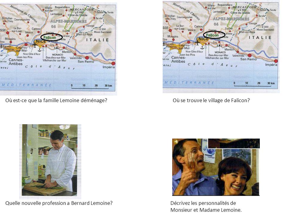 Le village de Falicon se trouve dans le sud de la France, près de Nice.