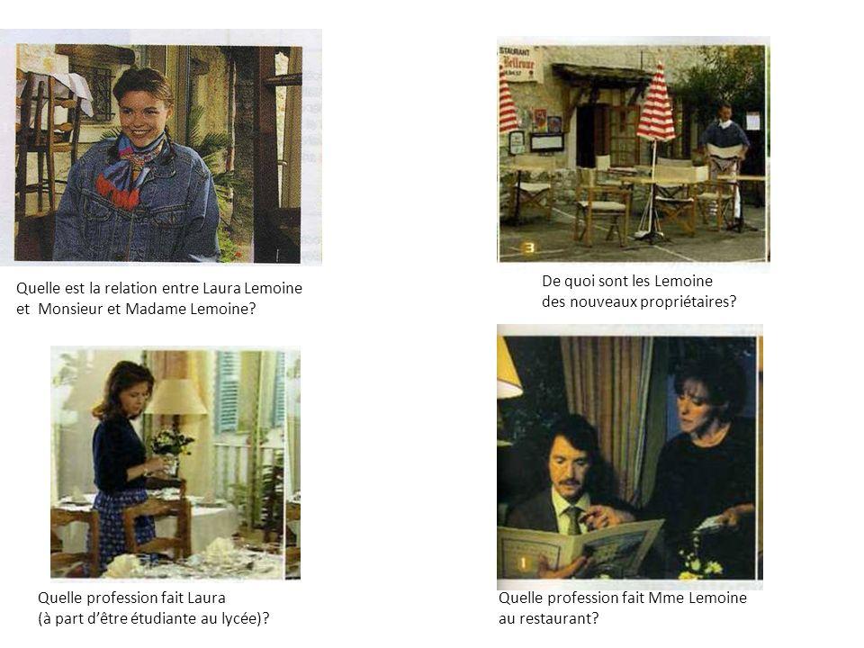 Les Lemoine sont de nouveaux propriétaires dun café-restaurant.