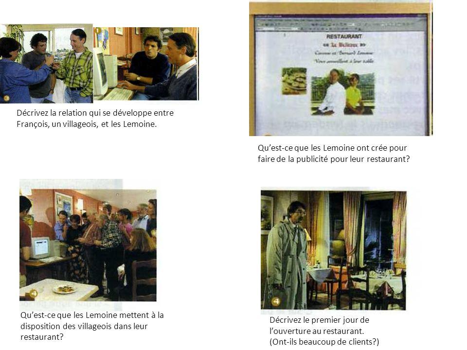 Les Lemoine ont crée un site web pour faire de la publicité pour leur restaurant.