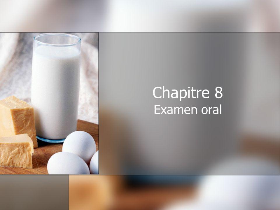 Chapitre 8 Examen oral