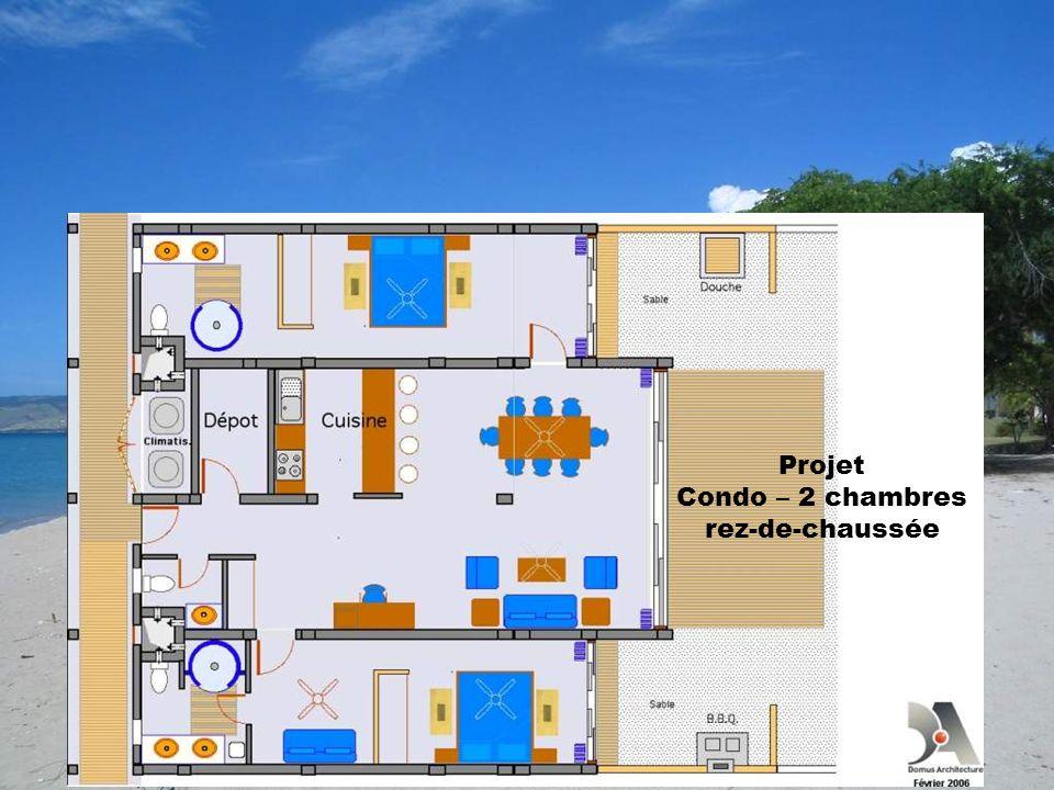 Projet Condo – 2 chambres rez-de-chaussée