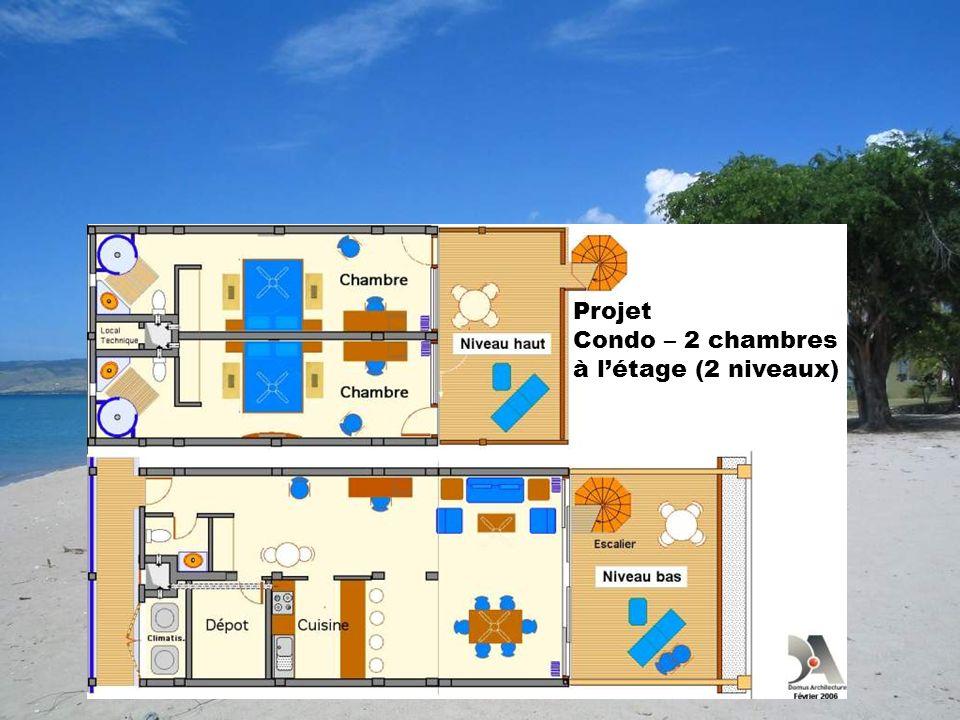 Projet Condo – 2 chambres à létage (2 niveaux)