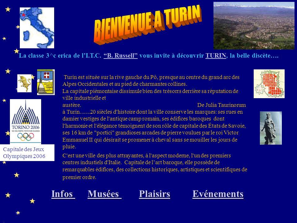 Turin est située sur la rive gauche du Pô, presque au centre du grand arc des Alpes Occidentales et au pied de charmantes collines.