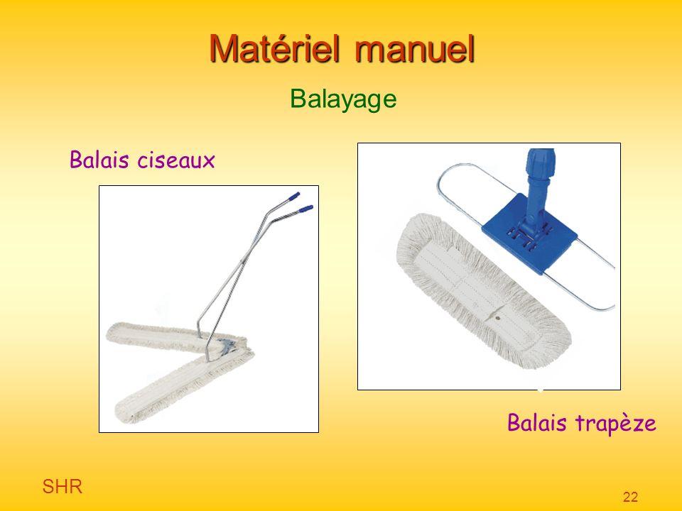 SHR 22 Matériel manuel Balayage Balais ciseaux Balais trapèze