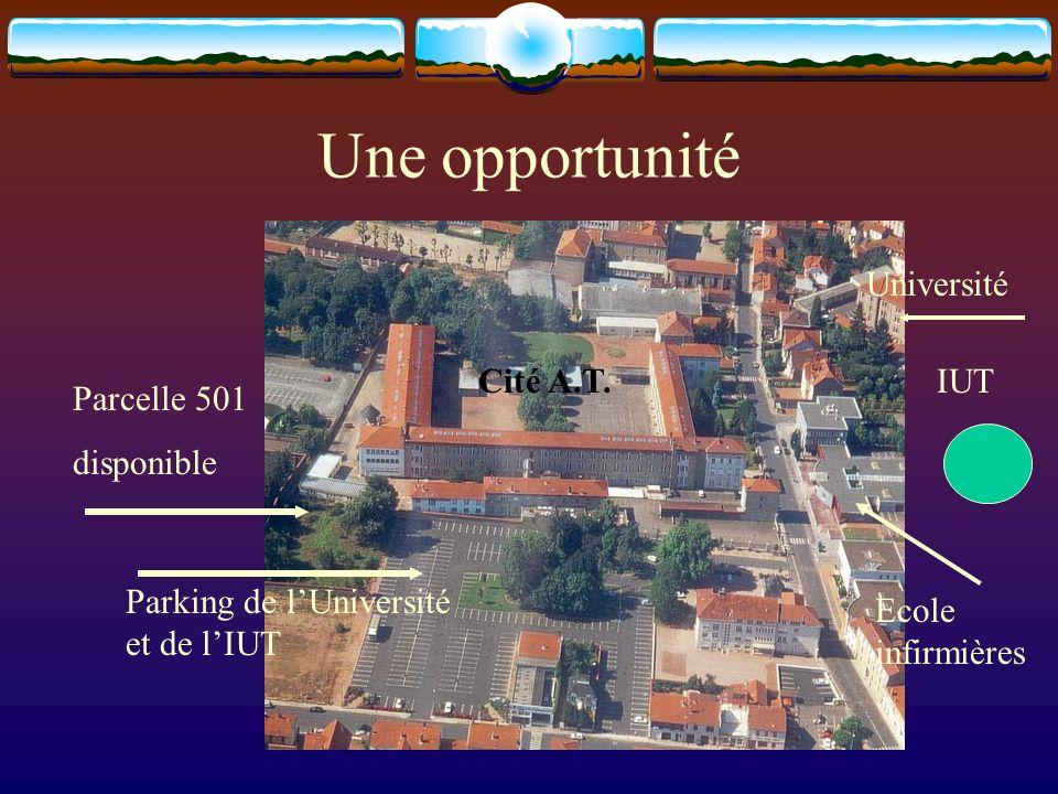 Une opportunité Parcelle 501 disponible Parking de lUniversité et de lIUT Université IUTCité A.T.