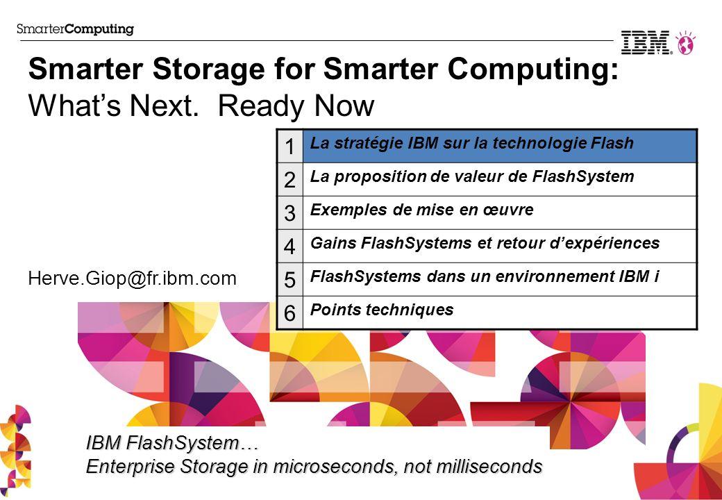 Writes PoC #1 - Configuration SAN Switches Storage Virtualization Layer VSCSI LUNs mapping VDisk Mirroring p260 POWER7 node IBM Flex System Chassis IBM Storwize V7000 IBM FlashSystem 810 IBM i VIOS Reads PoC : Fabian Michel (IBM/ Be)