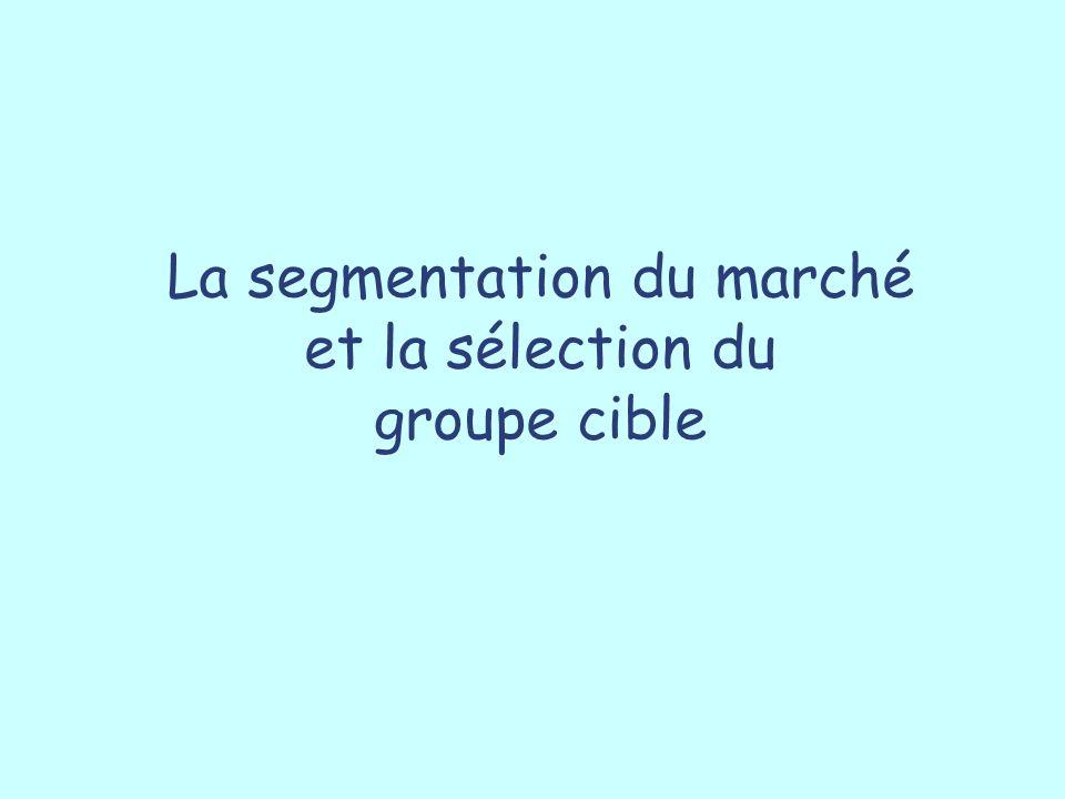 Variables de segmentation en fonction de l étape du cycle de vie personnel