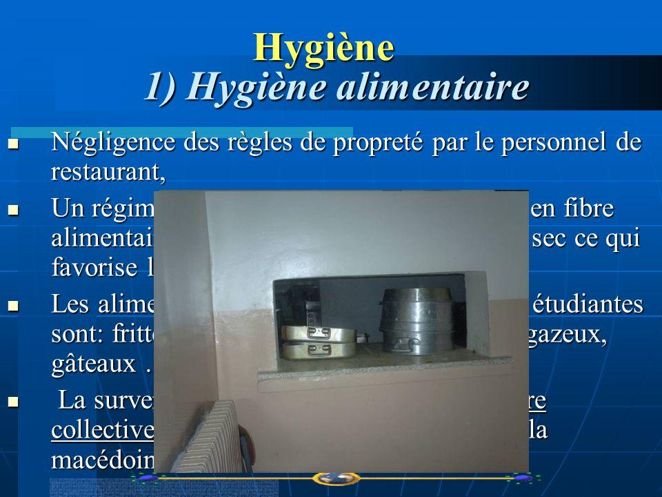 Hygiène 1) Hygiène alimentaire Négligence des règles de propreté par le personnel de restaurant, Négligence des règles de propreté par le personnel de