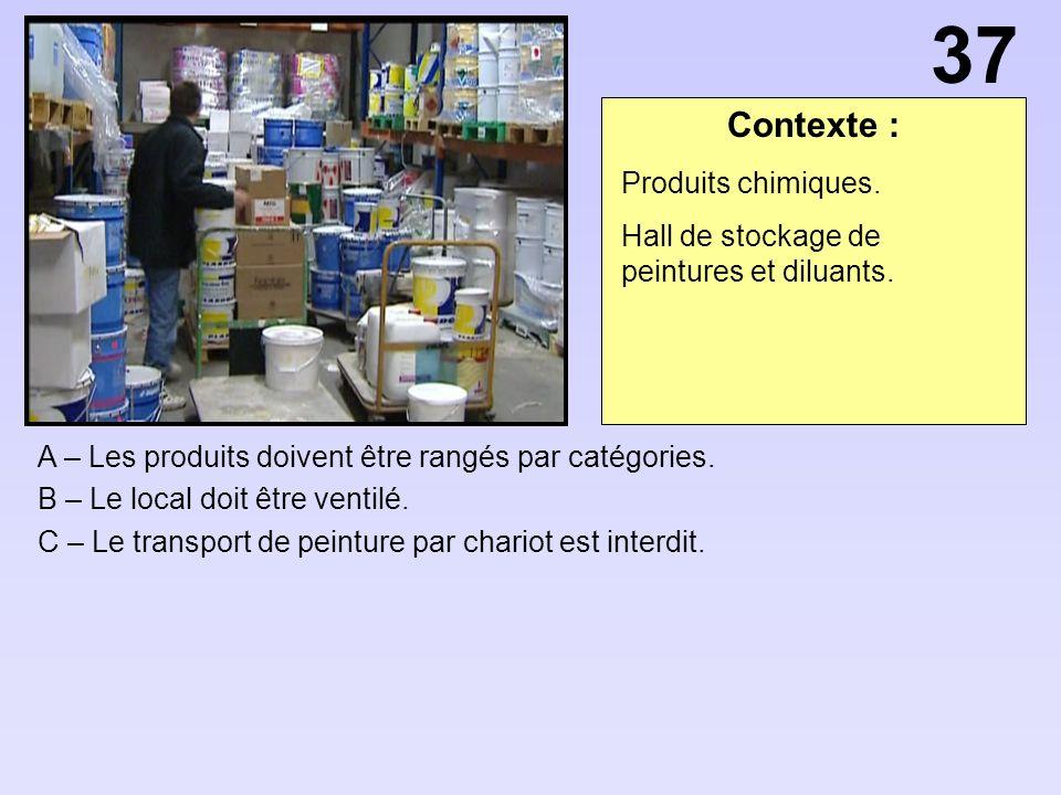 Contexte : A – Les produits doivent être rangés par catégories.