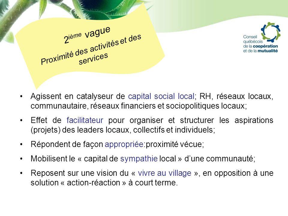Agissent en catalyseur de capital social local; RH, réseaux locaux, communautaire, réseaux financiers et sociopolitiques locaux; Effet de facilitateur