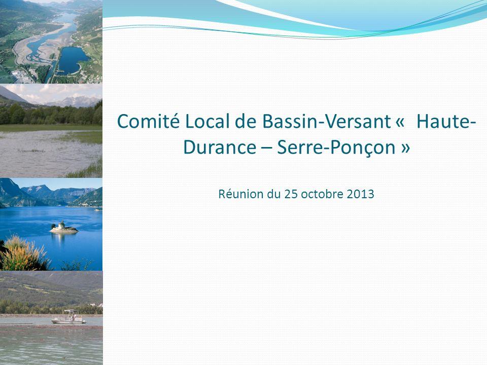 Comité Local de Bassin-Versant « Haute- Durance – Serre-Ponçon » Réunion du 25 octobre 2013