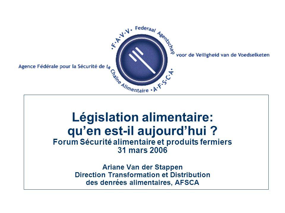 TOUR DHORIZON Règlement (CE) N° 178/2002: General Food Law = la législation alimentaire générale Hygiène I (H1) = Règlement (CE) N° 852/2004 (horizontal): lhygiène générale des denrées alimentaires.