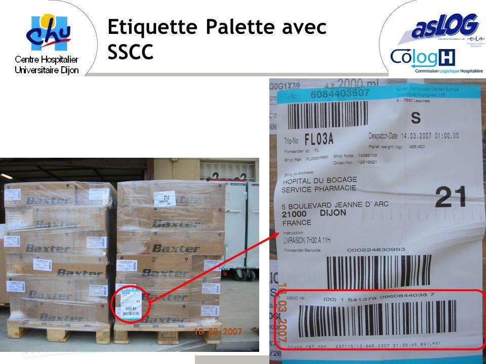 Etiquette Palette avec SSCC