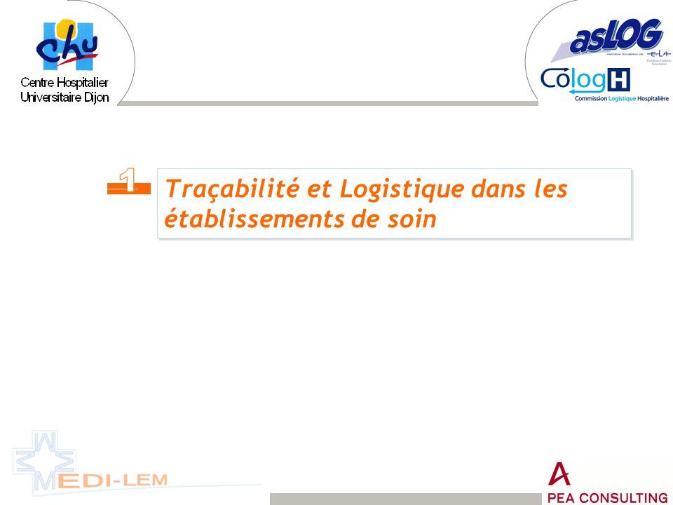 Traçabilité et Logistique dans les établissements de soin