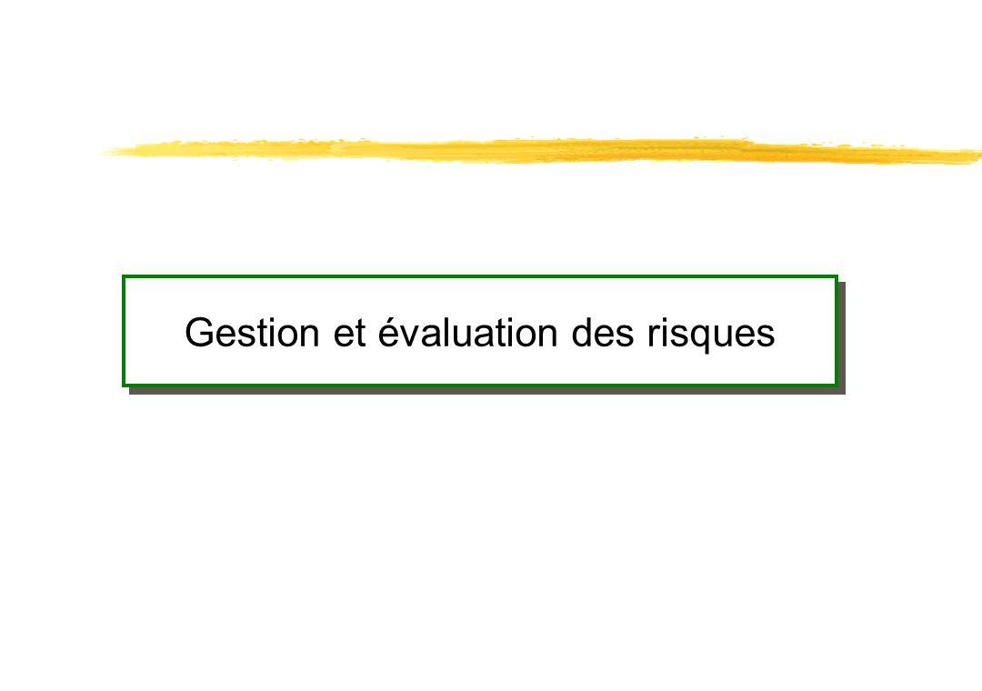Gestion et évaluation des risques