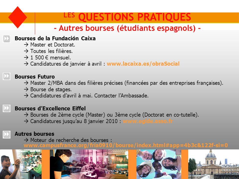 LES QUESTIONS PRATIQUES - Logement 1/2 - Les résidences universitaires du CROUS Faire une demande avant le 30 avril (DSE) : www.cnous.fr Entre 140 et 400.