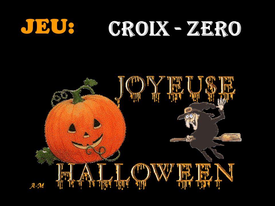 JEU: CROIX - ZERO