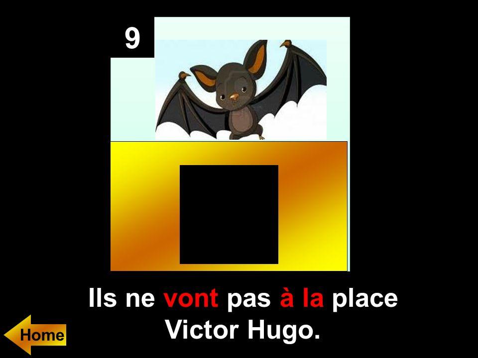 Ils ne (aller)..... pas..... place Victor Hugo. 9