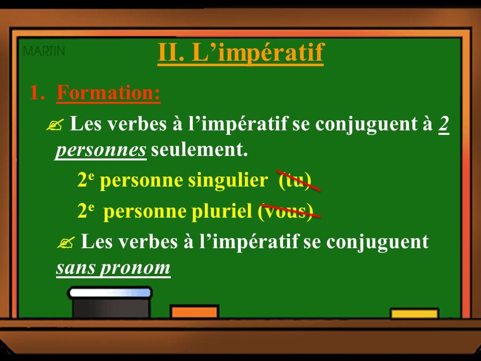 LEÇON 8: LIMPÉRATIF I.Lexemple: - Vous allez tout droit.