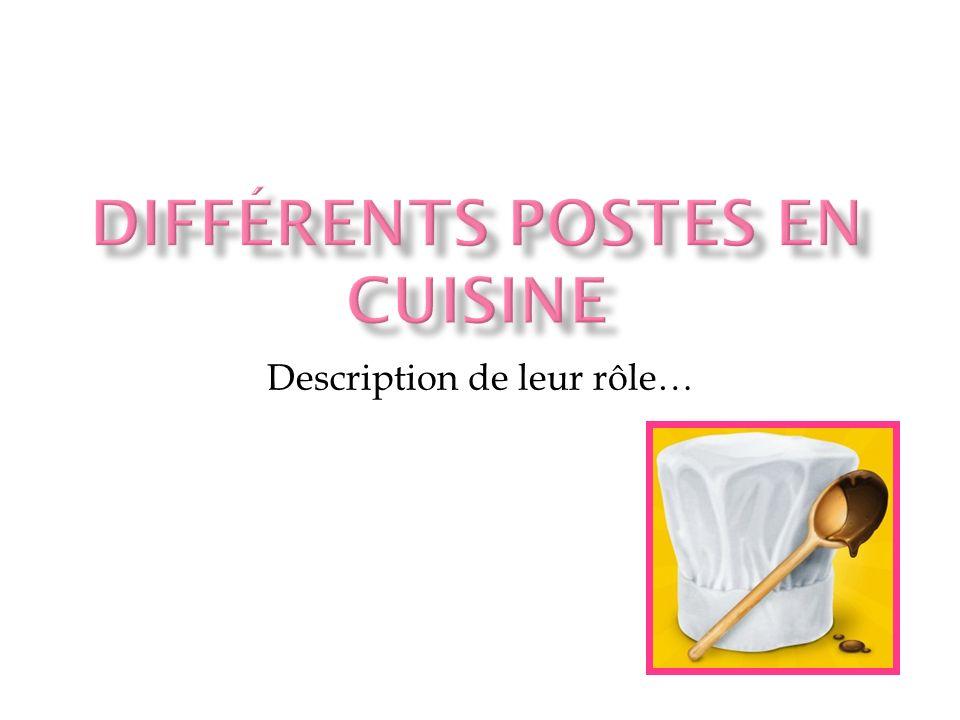 Une brigade de cuisine : un ensemble de cuisiniers qui travaillent dans un même établissement, sous la direction dun chef.