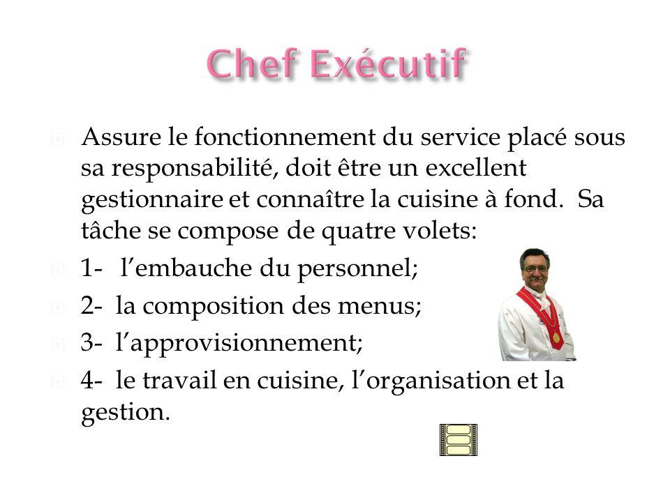 Sous la direction du chef rôtisseur, la grillardin a la responsabilité des grillades de poisson, de bifteck, de côtelettes etc.