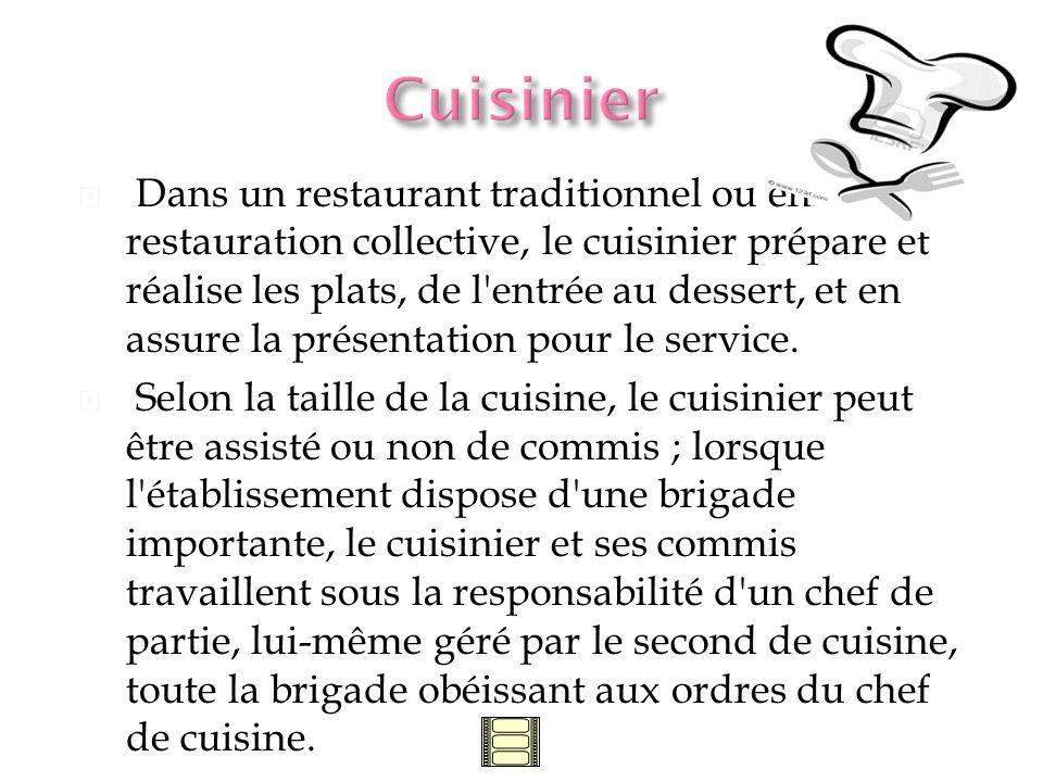 Travail délicat car le saucier doit posséder les connaissances indispensables à lélaboration de ce quon appelle la base de la gastronomie.