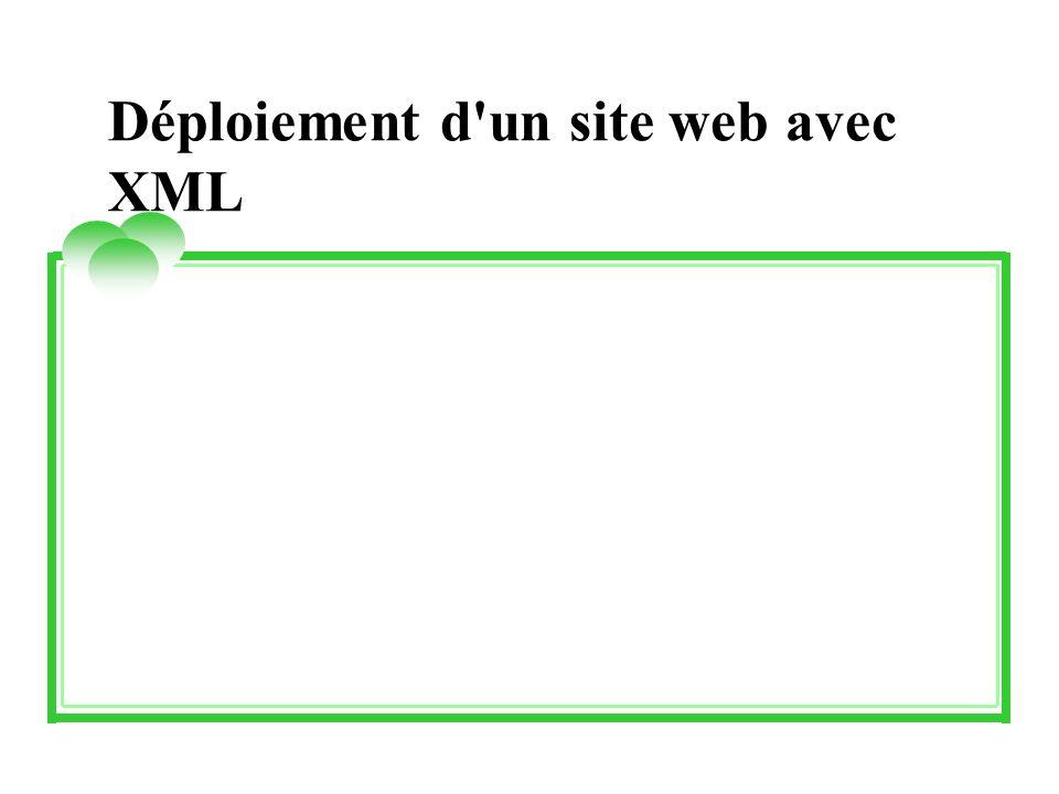 Déploiement d'un site web avec XML