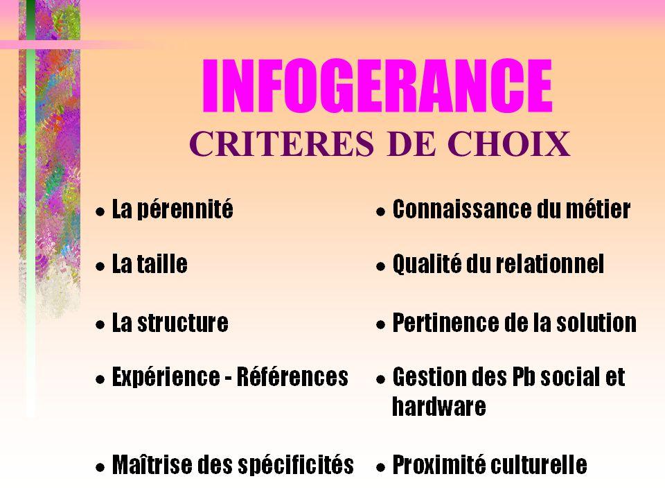INFOGERANCE CRITERES DE CHOIX