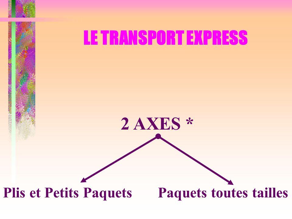 LE TRANSPORT EXPRESS 2 AXES * Plis et Petits Paquets Paquets toutes tailles
