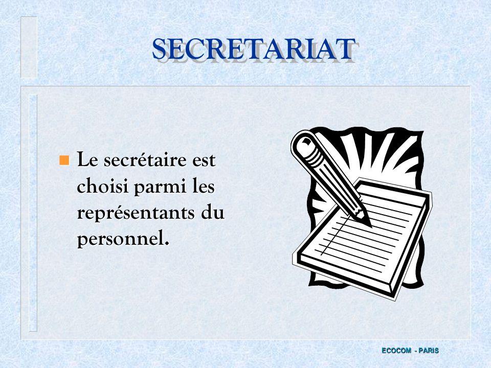 LIBRE CIRCULATION ECOCOM - PARIS n Droit de libre circulation dans tout létablissement