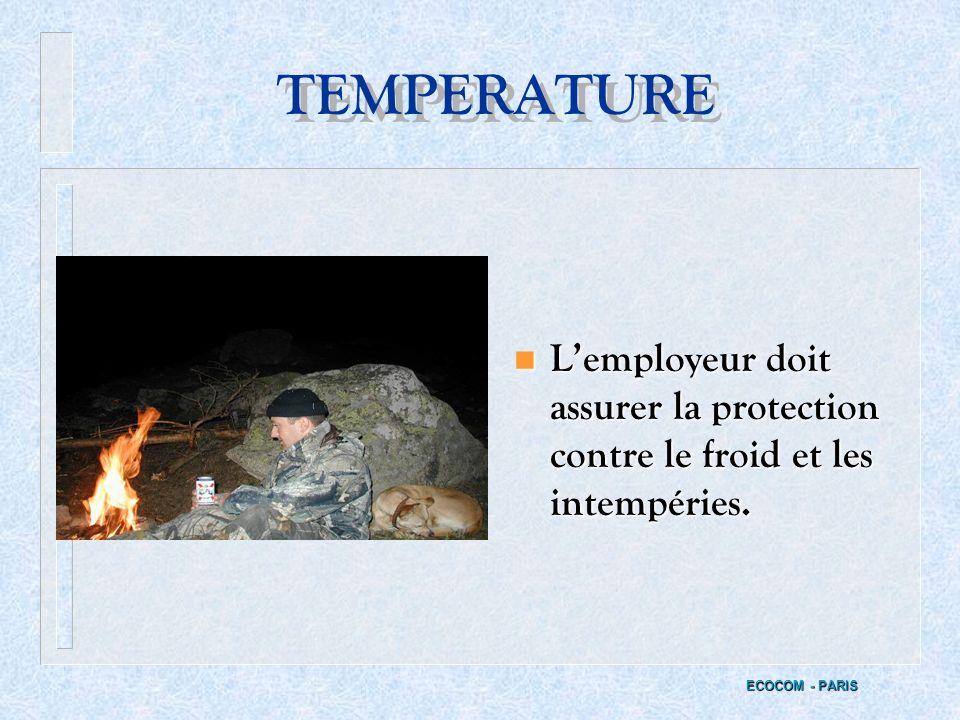 PRODUITS DANGEREUX n Les Fiches de données de sécurité (F.D.S) doivent être maintenues à jour ECOCOM - PARIS