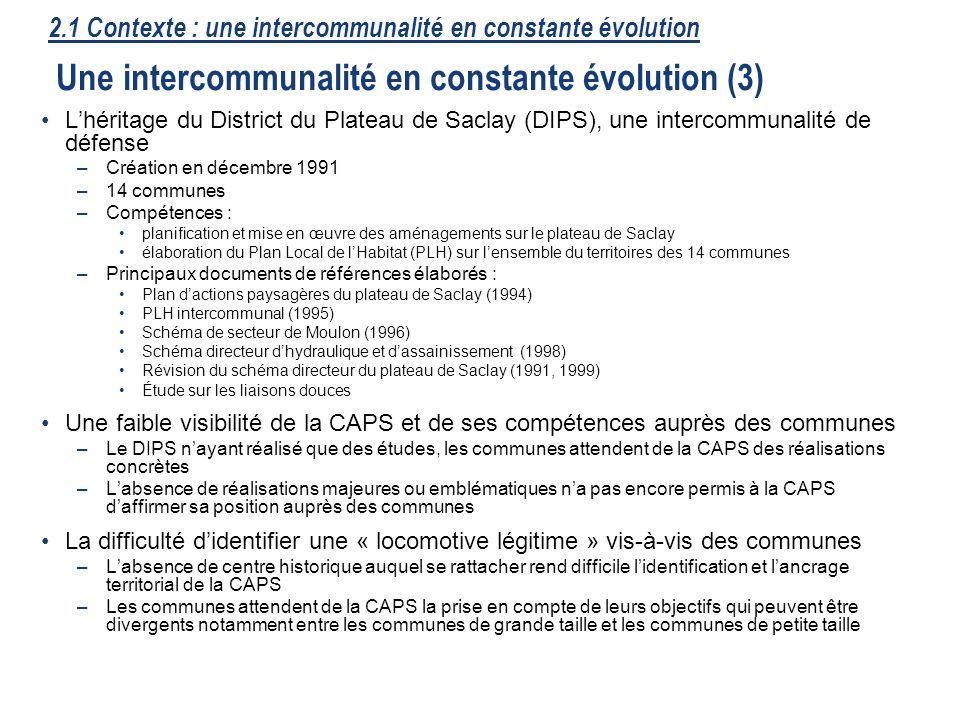 15 Lhéritage du District du Plateau de Saclay (DIPS), une intercommunalité de défense –Création en décembre 1991 –14 communes –Compétences : planifica
