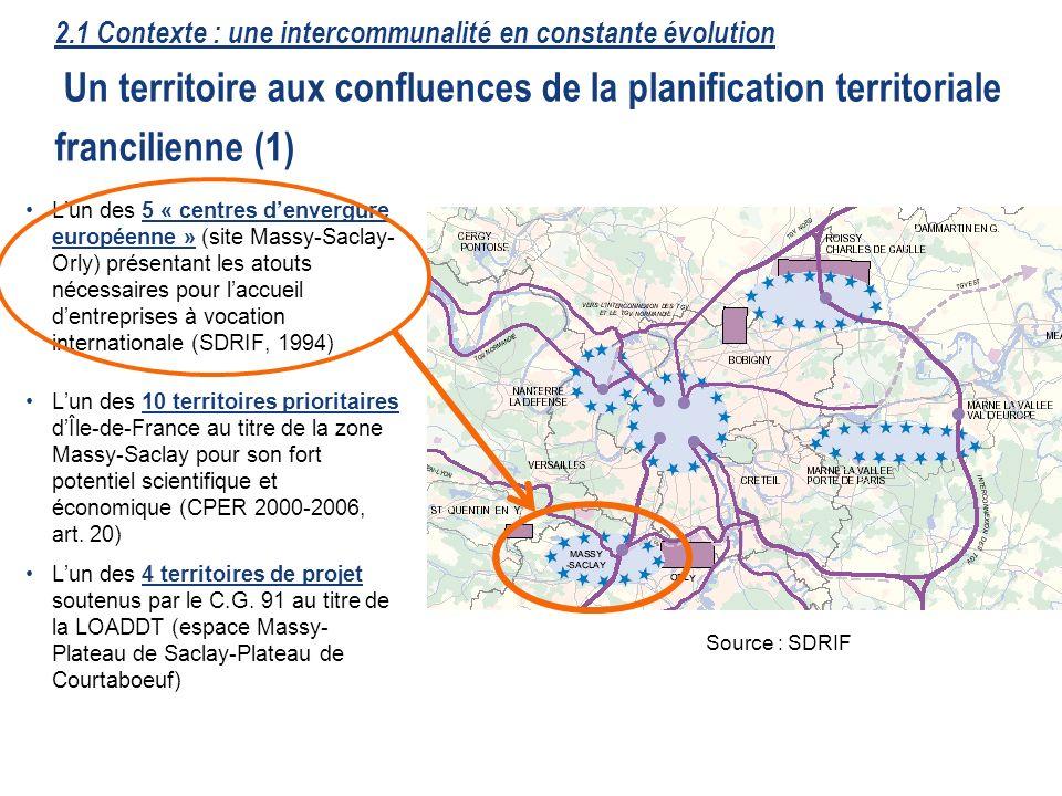 16 Lun des 5 « centres denvergure européenne » (site Massy-Saclay- Orly) présentant les atouts nécessaires pour laccueil dentreprises à vocation inter
