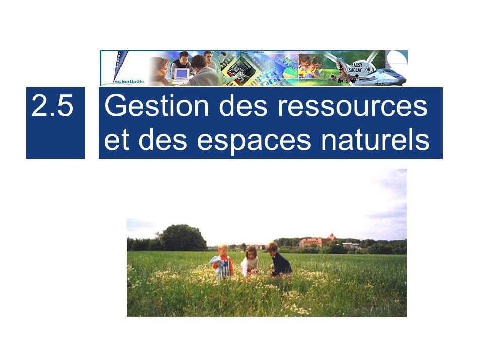 37 2.5Gestion des ressources et des espaces naturels