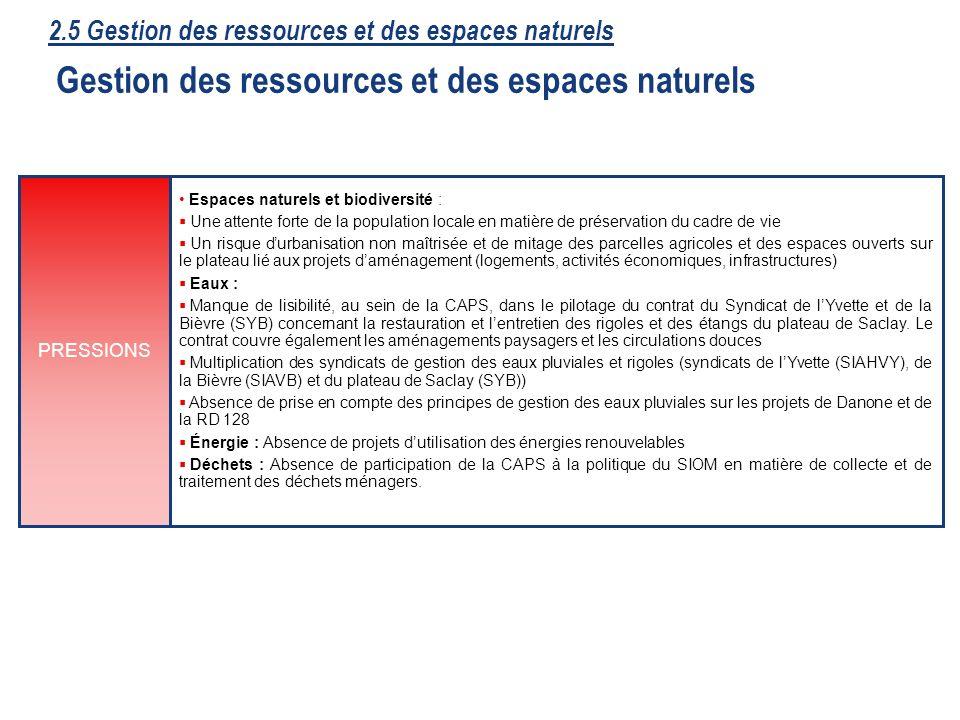 41 Espaces naturels et biodiversité : Une attente forte de la population locale en matière de préservation du cadre de vie Un risque durbanisation non