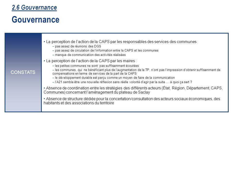 47 La perception de laction de la CAPS par les responsables des services des communes : – pas assez de réunions des DGS – pas assez de circulation de