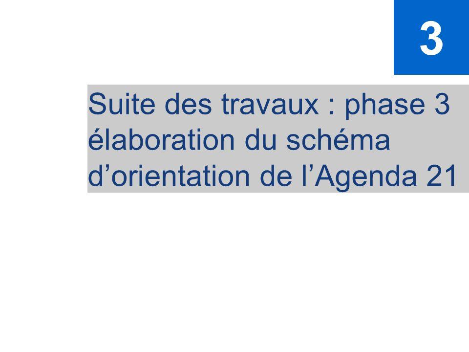50 Suite des travaux : phase 3 élaboration du schéma dorientation de lAgenda 21 3