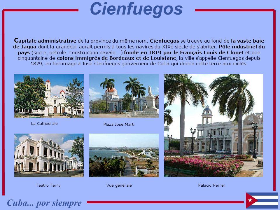 C apitale administrative de la province du même nom, Cienfuegos se trouve au fond de la vaste baie de Jagua dont la grandeur aurait permis à tous les