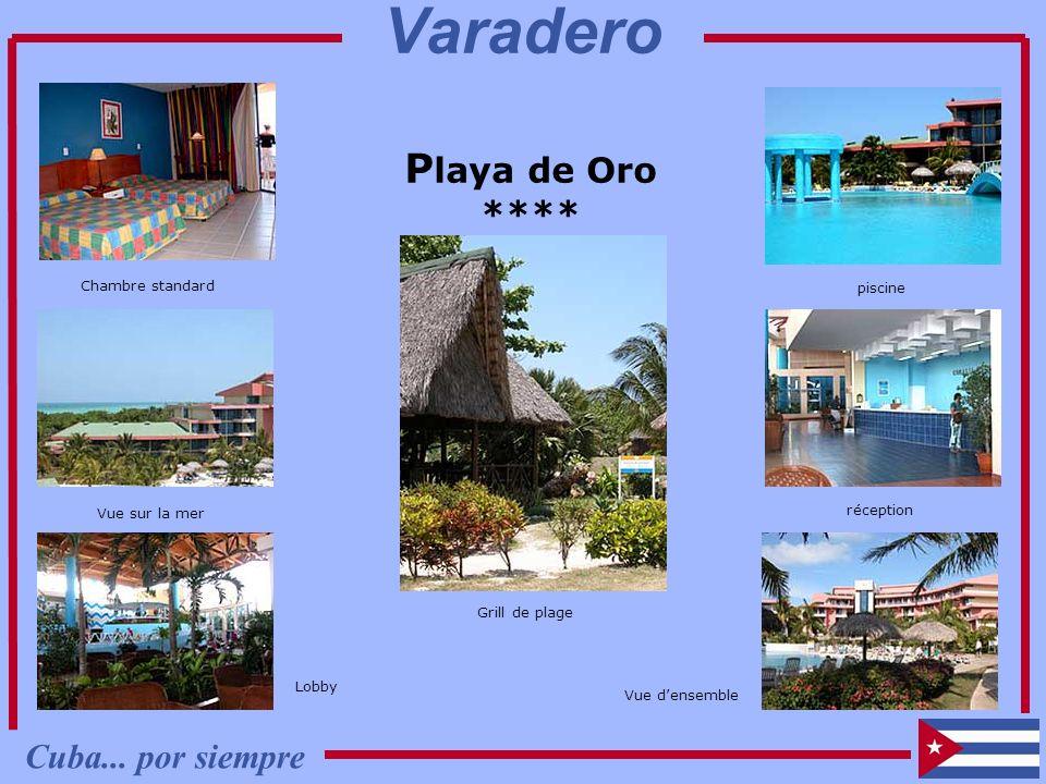 P laya de Oro **** Chambre standard Vue sur la mer Lobby Vue densemble piscine réception Grill de plage Cuba... por siempre Varadero