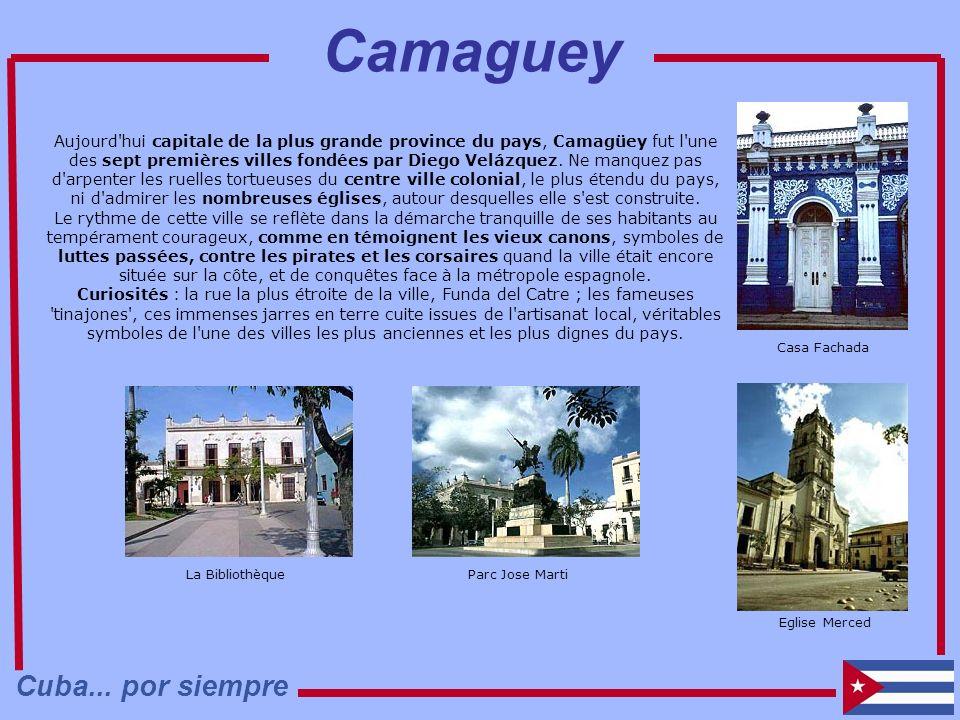 Aujourd'hui capitale de la plus grande province du pays, Camagüey fut l'une des sept premières villes fondées par Diego Velázquez. Ne manquez pas d'ar