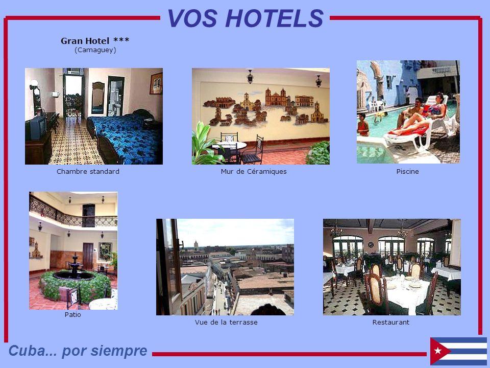 Gran Hotel *** (Camaguey) Piscine Chambre standard Restaurant Mur de Céramiques Patio Vue de la terrasse Cuba... por siempre VOS HOTELS