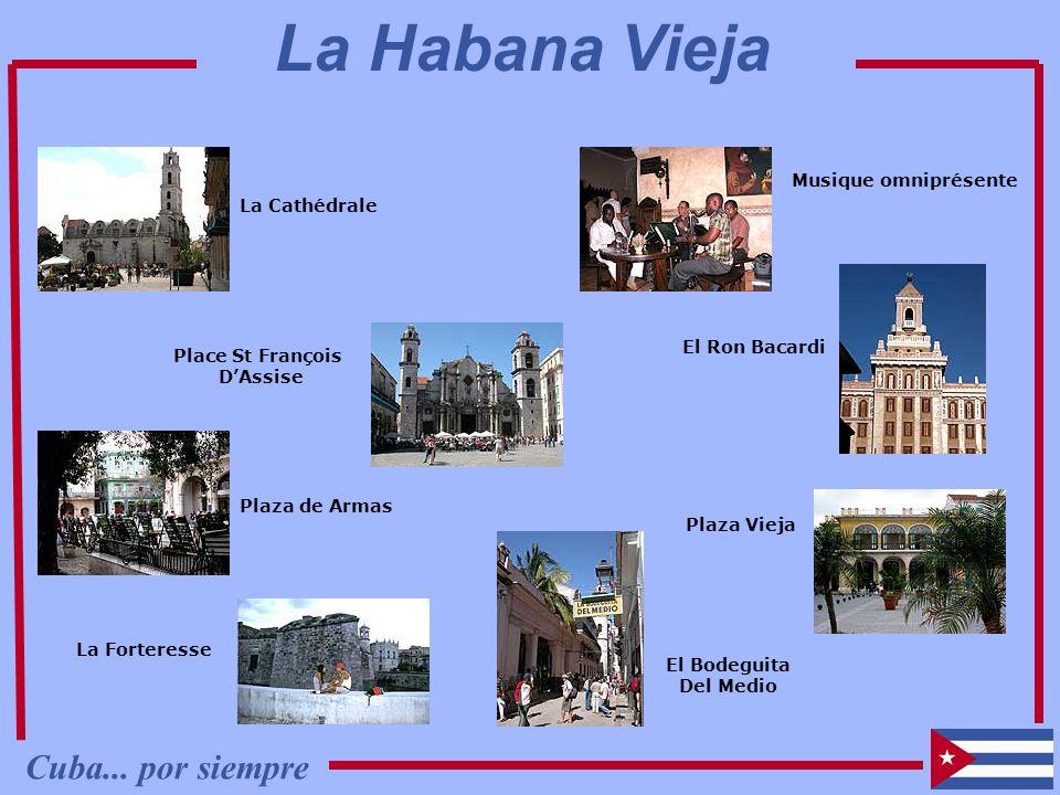 La Cathédrale Musique omniprésente El Ron Bacardi Place St François DAssise La Forteresse El Bodeguita Del Medio Plaza Vieja Plaza de Armas Cuba... po