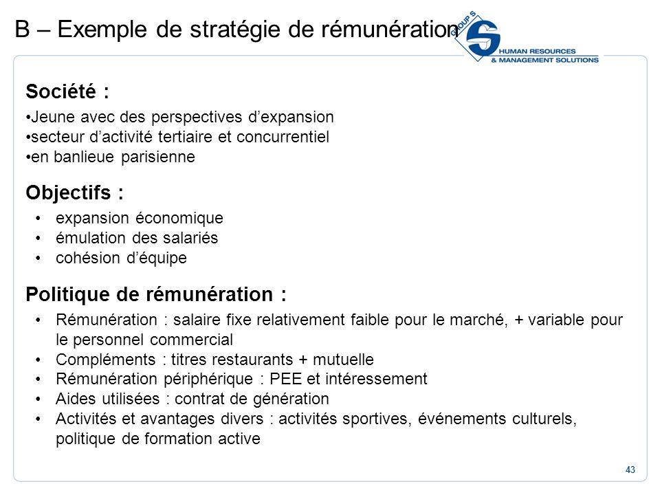 43 Société : Jeune avec des perspectives dexpansion secteur dactivité tertiaire et concurrentiel en banlieue parisienne Objectifs : expansion économiq