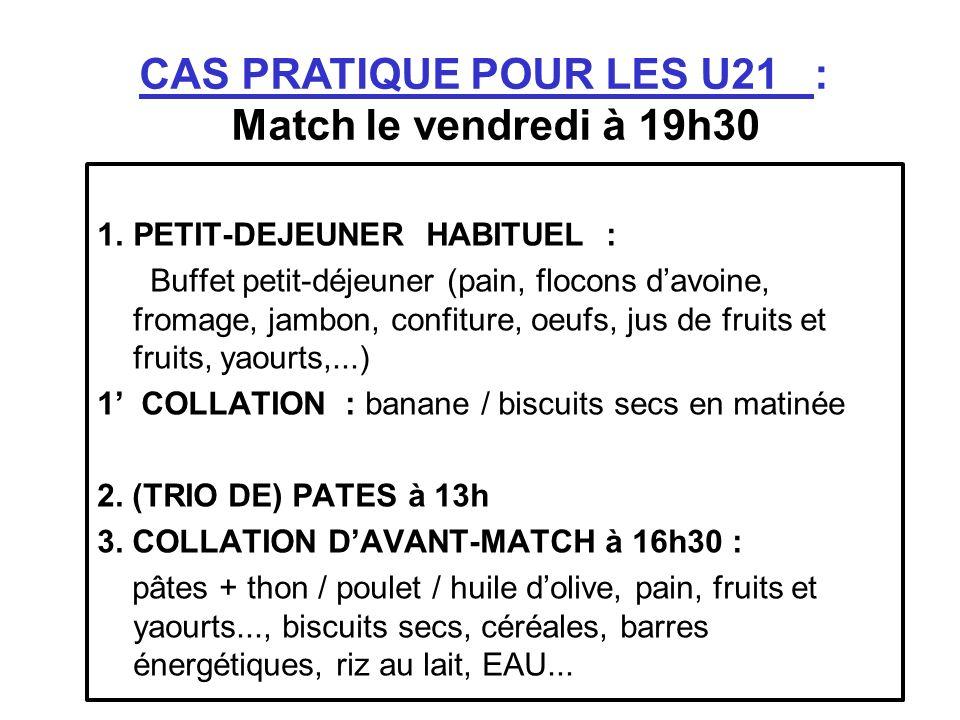 1.PETIT-DEJEUNER HABITUEL : Buffet petit-déjeuner (pain, flocons davoine, fromage, jambon, confiture, oeufs, jus de fruits et fruits, yaourts,...) 1 C