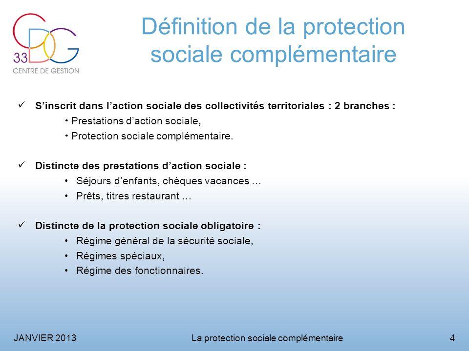 JANVIER 2013La protection sociale complémentaire5 La protection sociale complémentaire en général