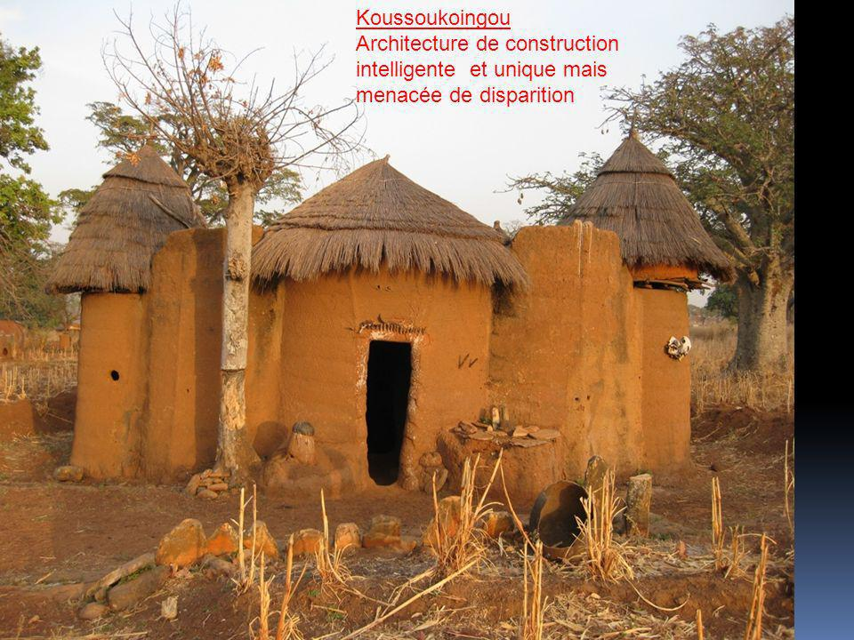 Koussoukoingou Architecture de construction intelligente et unique mais menacée de disparition