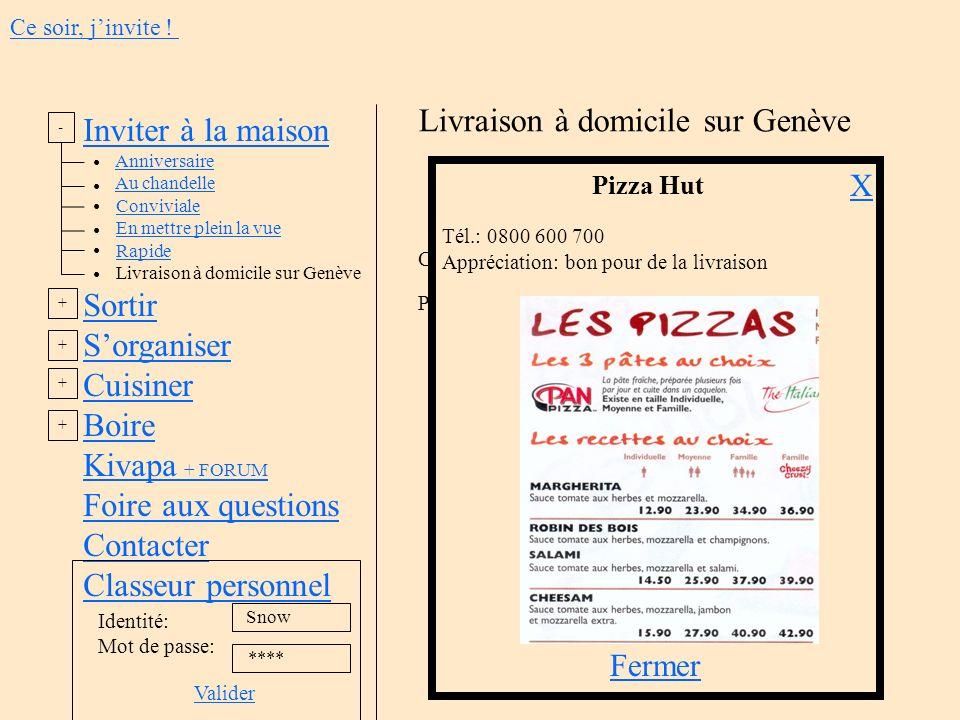 Inviter à la maison Anniversaire Au chandelle Conviviale En mettre plein la vue Rapide Livraison à domicile sur Genève Sortir Sorganiser Cuisiner Boir
